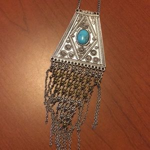American Eagle Long Statement Necklace